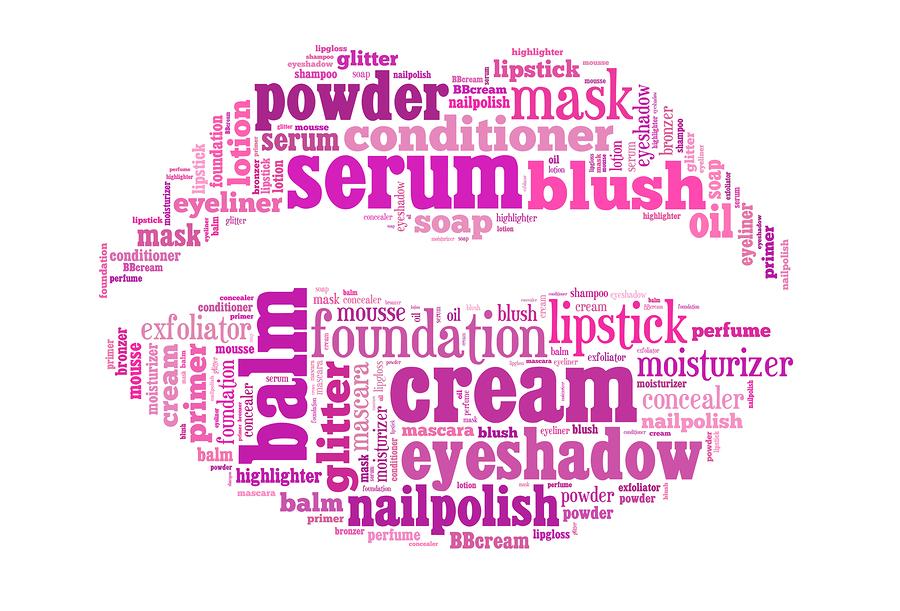 newspage - beauty products lips writing